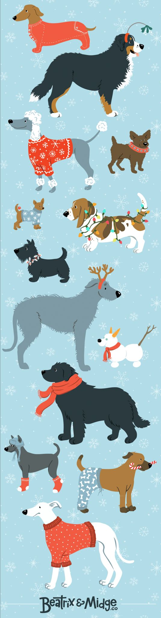 Beatrix and Midge Co. Holidogs Limited Edition Print