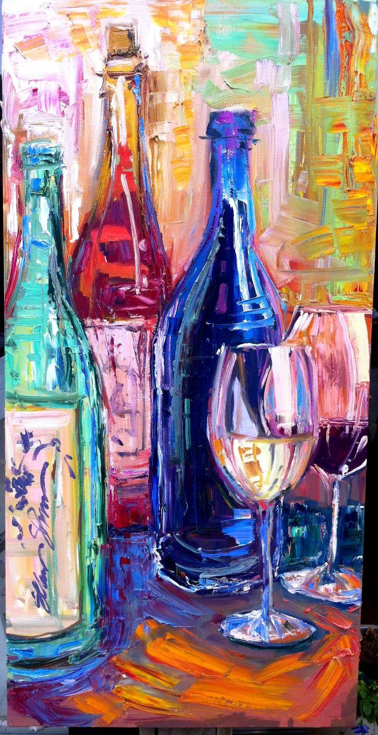 "wine, $1100.00, 24x48"" http://www.seanshrum.com/thegallery.html, wine, napa valley, art, painting, bar"