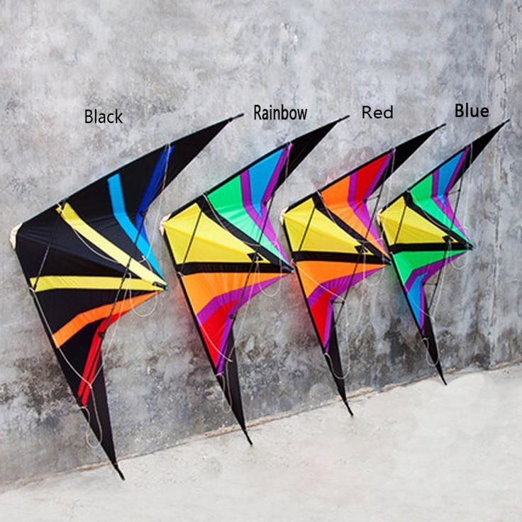 High Quality 1.8m/70inch Dual Line Rainbow Delta Stunt Kite Outdoor Sport Power Kite With Flying Tools Beach and Square