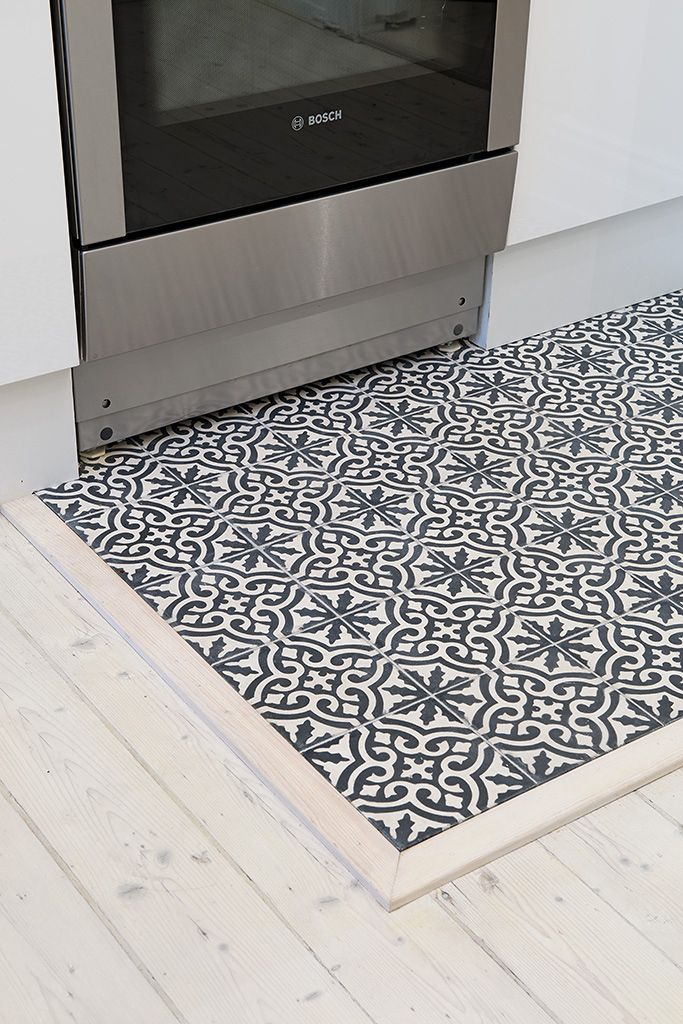 kitchen - floor - tile - carreaux ciment