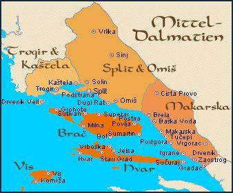 Über die Inseln Hvar, Brac, Solta & Vis in Dalmatien, Kroatien