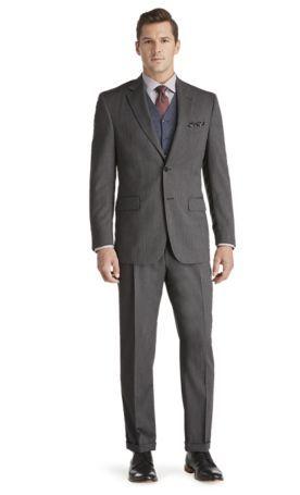 Signature Collection Tailored Fit Herringbone Suit