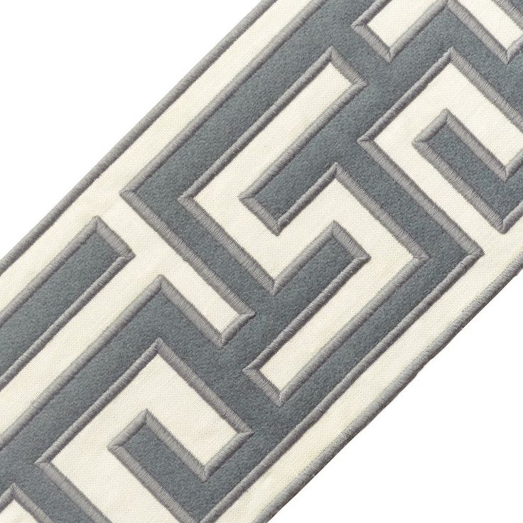 """Samuel and Sons Passementerie 5"""" GREEK FRET EMBROIDERED BORDER"""