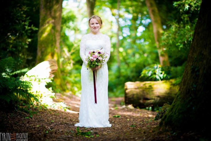 Beautiful wedding dress to go with the beautiful natural surroundings @tcmphoto www.tcmphotography.co.uk
