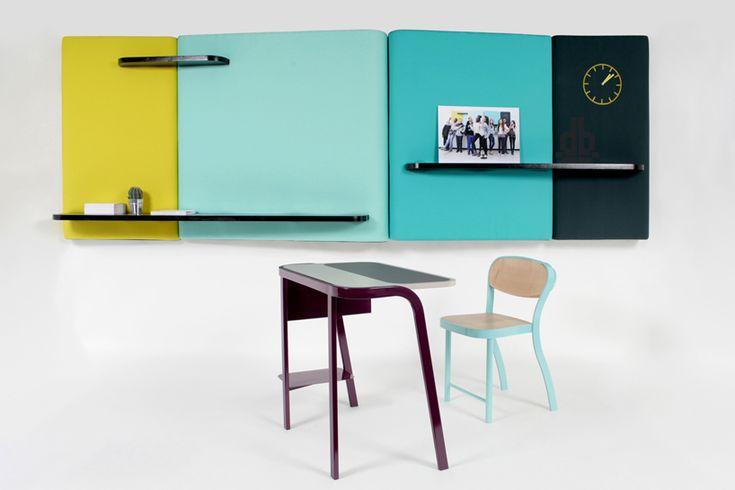 El estudio Brichetziegler, en conjunto con los estudiantes de la secundaria Jean Moulin en Montreuil, rediseñaron el mobiliario escolar y los elementos esenciales en el ambiente de un salón de clases.