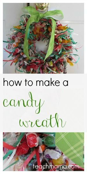how to make a candy wreath   simple, thoughtful, and rockstar gift for teachers, neighbors, friends, and family.   love LOVE THIS