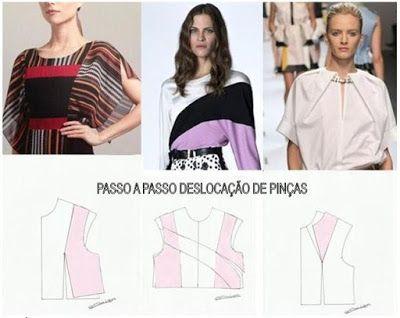 Moldes Moda por Medida: PASSO A PASSO DESLOCAÇÃO DE PINÇAS-2