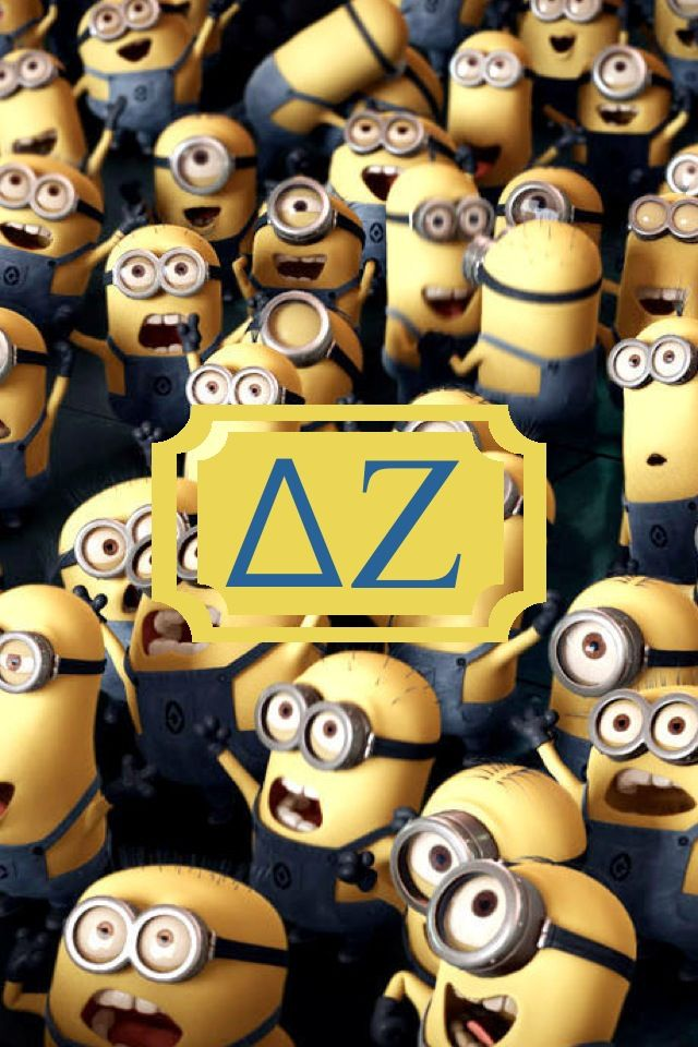 Delta Zeta MINION monogram iPhone background!!