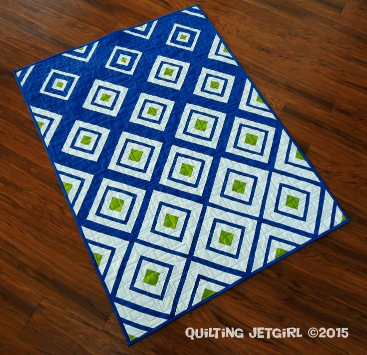 Diamonds in the Deep pattern by Bonjour Quilts, Quilt by Quilting Jetgirl