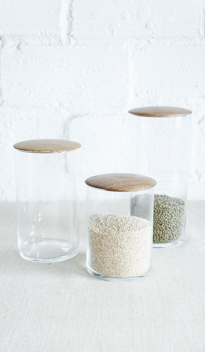 Simple Glass Canisters - Spartan Shop  $35.00