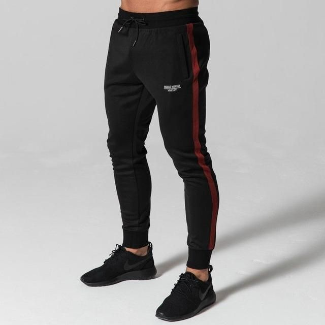 bodybuilding Long pants Mid Cotton Men's workout fitness
