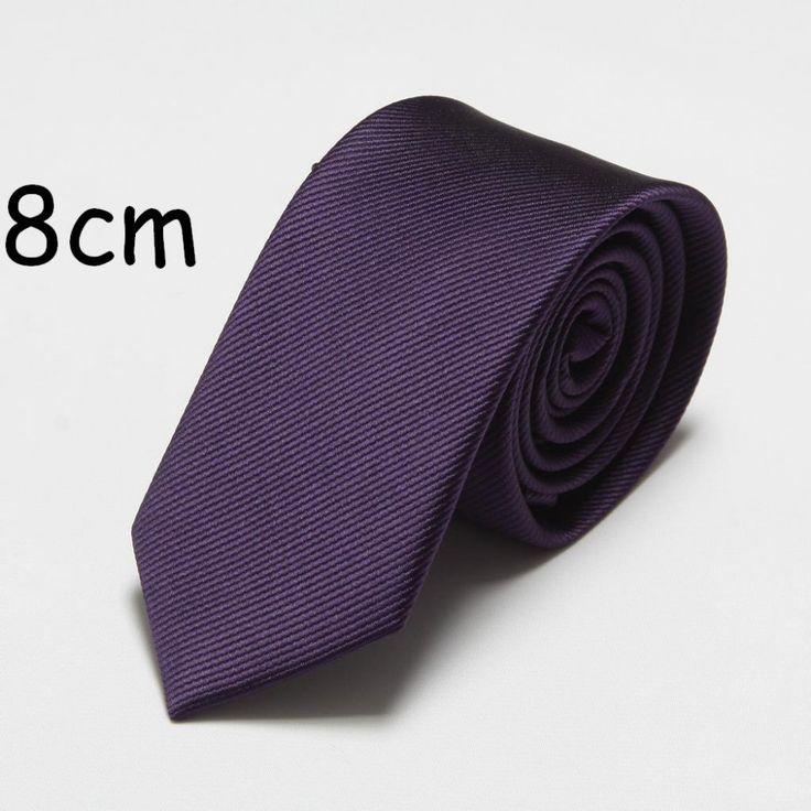 solid fashion polyester cheap ties for men neck tie cravat neckties 8cm width #Affiliate