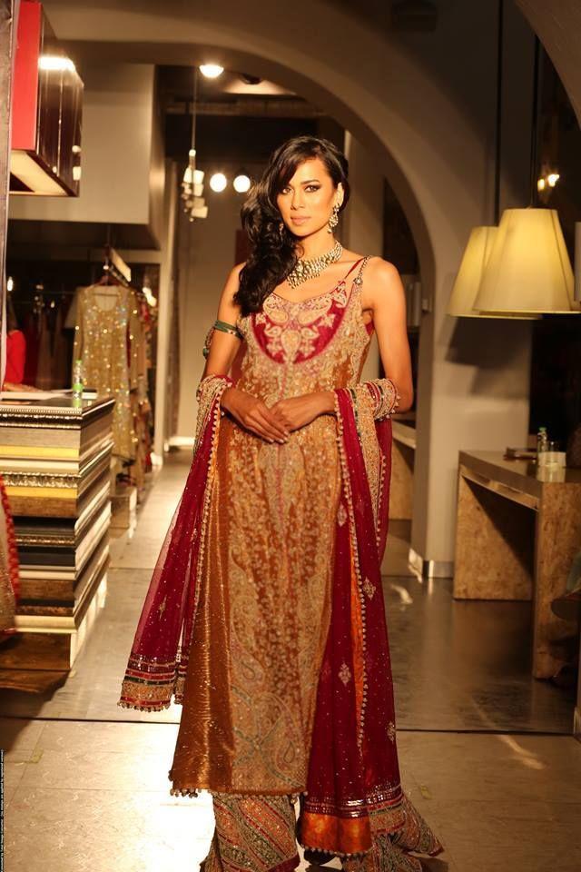 Pakistani Bridal Couture Wedding Dresses 2014 (16)