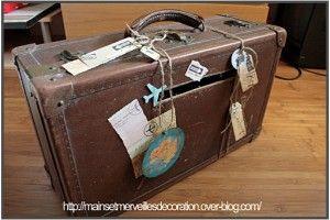 #Tipvandeweek Zet op je uitnodiging geen envelopje, maar een koffer. Leuk idee voor de enveloppen op je trouwdag.