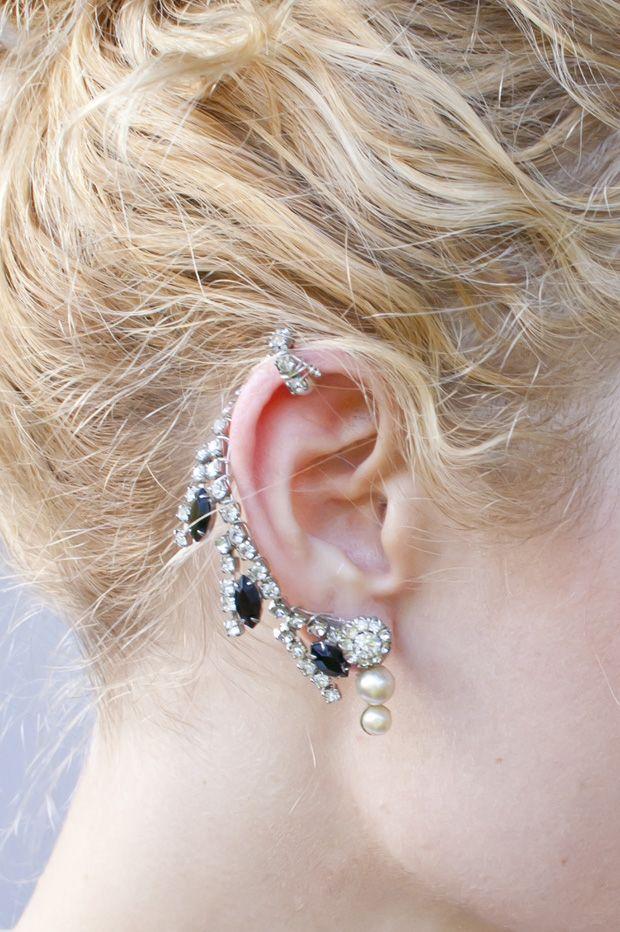 DIY rhinestone ear cuff tutorial