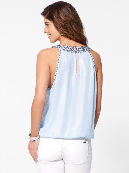 Womens Blue Dress Shirt