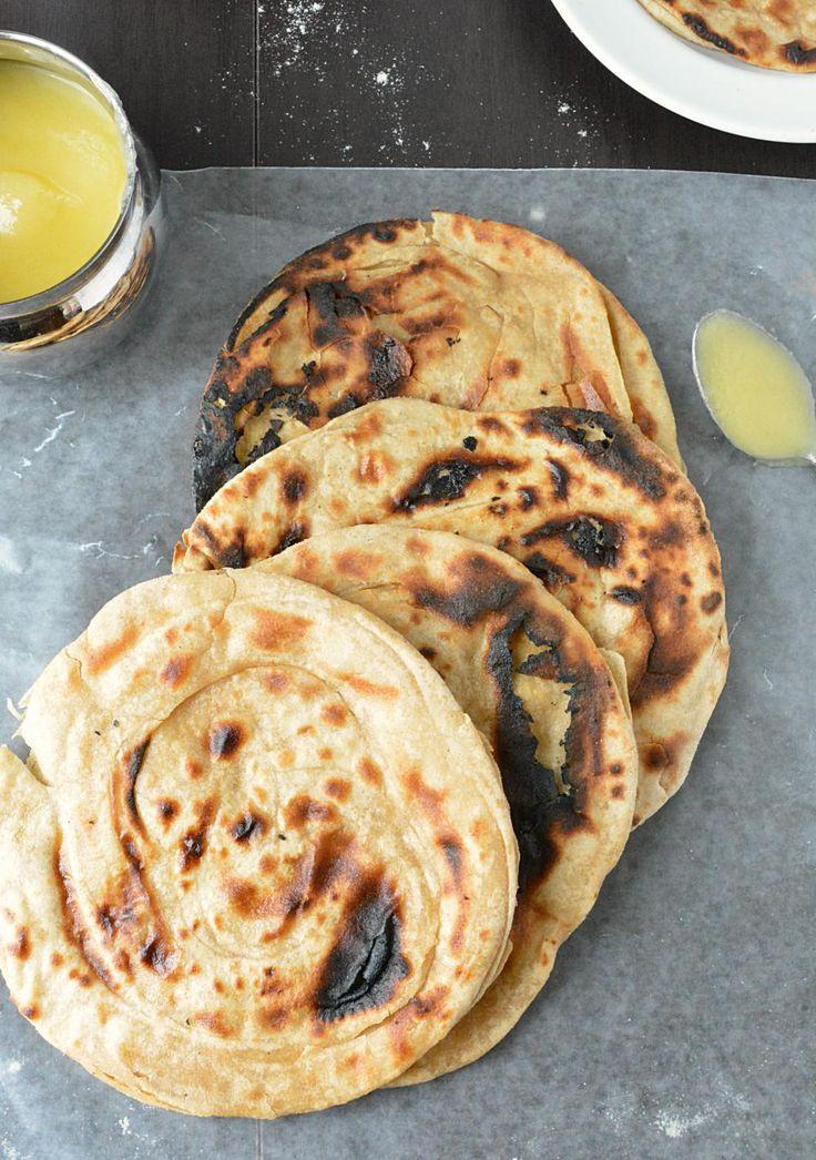 Tandoori Roti Without Oven - uses upside down kadhai