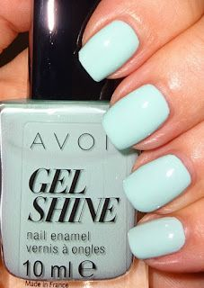 Wendy's Delights: Avon Gel Shine Nail Polish - Mint To Be @Avonuk #avongelshine #avoncosmetics #avonuk #avonnailpolish #mintnails #pastelnails #greennails
