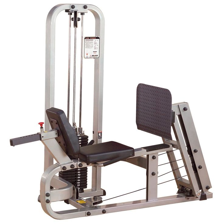 "Body Solid Pro Club Line SLP500G2 Leg Press with 210-Pound Weight Stack. 2"" x 4"" Steel Mainframe. Extra Tough, tear resistant Durafirm. Pillow block and sealed ball bearings. Body Solid In Home Lifetime Warranty that covers everything. Forever. Period."