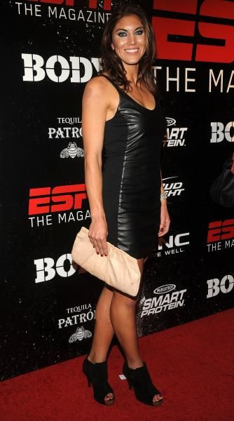 Hope Solo arrives at ESPN The Magazine Body Issue Party Oct. 6, 2011 in New York. (Diane Bondareff/AP Images for ESPN The Magazine)