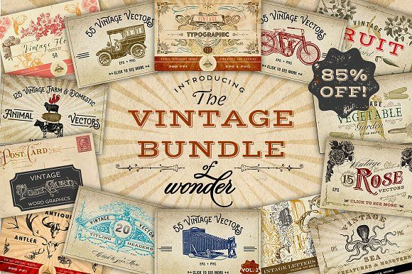 Vintage Bundle of Wonder by Eclectic Anthology on @creativemarket