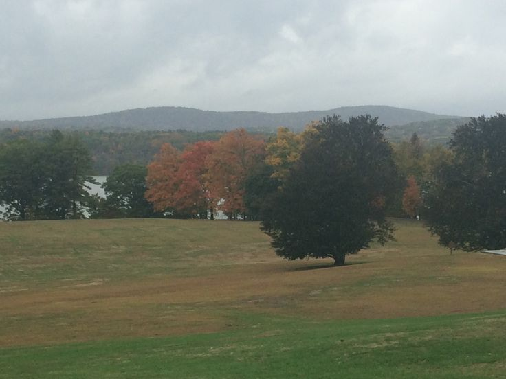 The view of the Catskills from Staatsburg State Historic Site.
