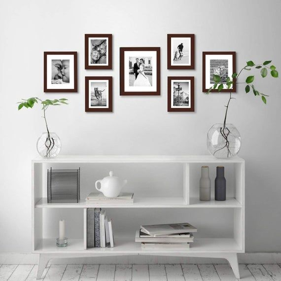 Americanflat 7 Pack Gallery Wall Set Includes 1 11x14 Frame 2 8x10 Frames And 4 5x7 Frame In 2020 Gallery Wall Design Picture Gallery Wall Wall Design