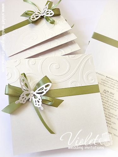 """Finesse"" Wedding Invitation, Violet Handmade Wedding Invitations"