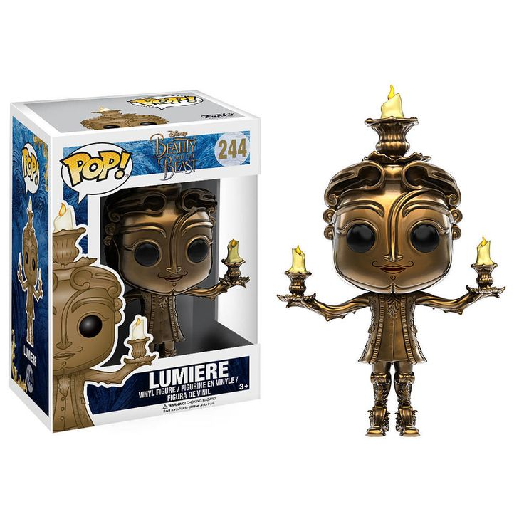 A tale as old as time has a new look in the 2016 live action version of Beauty and the Beast! Explore the enchanted castle with Lumiere! This Beauty and the Beast Live Action Lumiere Pop! Vinyl Figure measures approximately 3.75 inches tall and comes packaged in a window display box.<br><br>Funko is a pop culture licensed-focused toy company located in Everett, WA. Funko currently holds more than 150 licenses including, but not limited to; Lucas Films, Marvel, Hasbro, The Walking ...