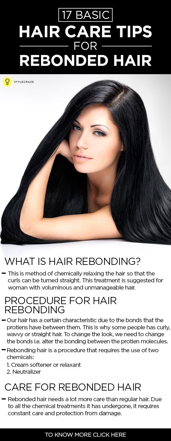 What Is Hair Rebonding? How To Take Care Of Rebonded Hair?   Rebonded hair, Hair care tips, Hair ...