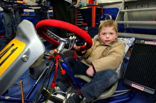 A very young Max Verstappen in a kart! He has had the racing education like no one else from his father Jos..
