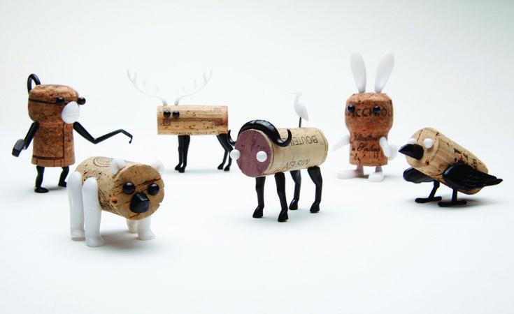 Corkers Animals - Monkey Business. Met deze grappige prikkers maak je van iedere kurk een leuk beestje!
