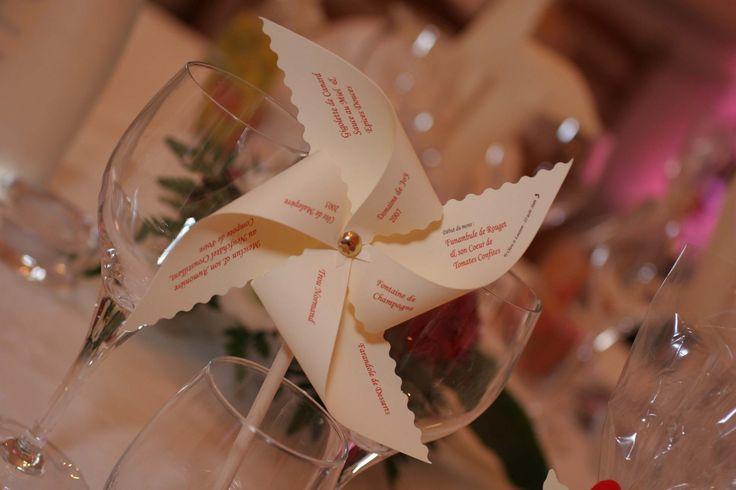 Menu mariage original moulin à vent : Faire-part par petiteclara sur ALittleMarket