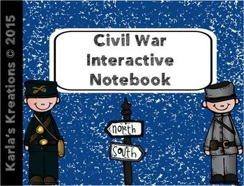 This is designed as an overview of the Civil War.  It is meant to supplement your basic Civil War lessons in 3rd Grade.   It includes 5 different interactive notebook pages 1st- Descriptions of the North and South before the Civil War 2nd- 5 main issues that contributed to the division between North and South 3rd- A map of what the U.S.