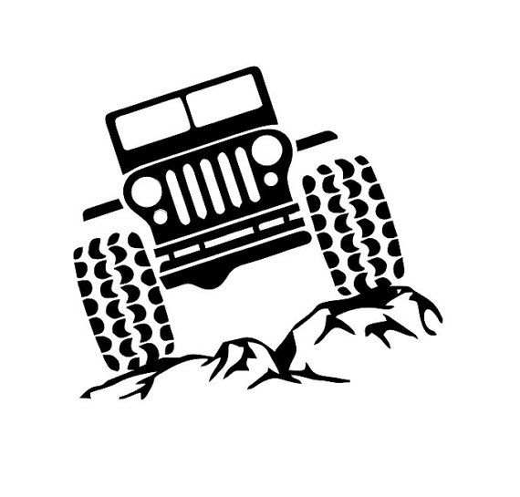 Jeep on Rocks Decal Jeep and Rocks Decal by SimplySMonograms