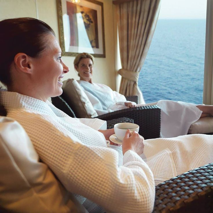 The perfect way to enjoy a relaxing Sunday? Whether its indulging in a signature massage or enjoying our pool and steam rooms our wish is that you emerge from your voyage totally rejuvenated and renewed. #Cunardline by cunardline