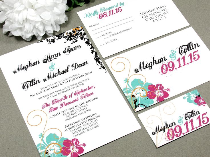 1835 best Tropical Wedding Invitations images on Pinterest - invitation designs