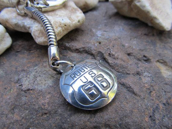Historic Route 66 Highway Keychain Collectors by FayWestDesigns, $16.00