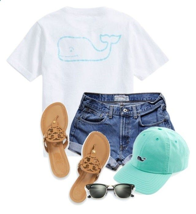 Day 2- Vineyard vines by madelyn-abigail ❤ liked on Polyvore featuring Vineyard Vines, Abercrombie Fitch, Tory Burch, Ray-Ban, womens clothing, women, female, woman, misses and juniors