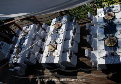 Tengerparti esküvő stílus, tengerész stílus, matróz stílus (Dekoráció)