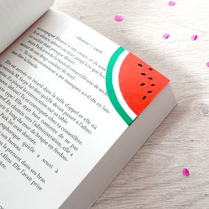 BlueCoton: Watermelon bookmark