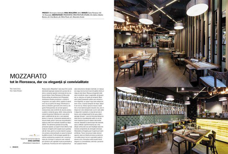 """Igloo #175 Proiectul de amenajare a noului restaurant """"Mozzafiato"""" din calea Floreasca ce poartă semnătura arhitecților de la Prographic Architecture Studio îmbină eleganța cu convivialitatea, oferindu-i personalitate spațiului interior."""