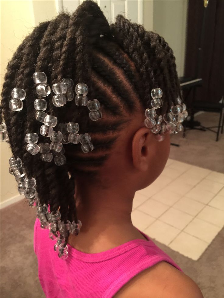 Simple Cornrows, Braids, Little Girl Braids, Black -4986