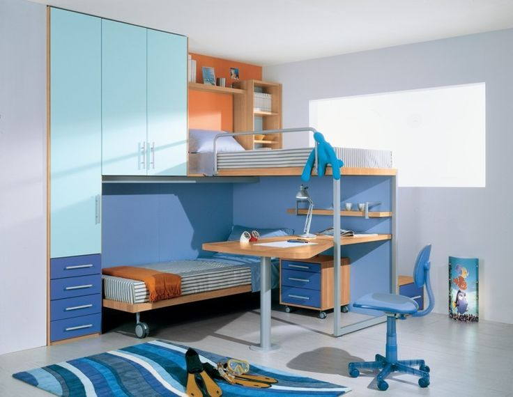 Oltre 25 fantastiche idee su scrivania per letto a - Letto a soppalco con scrivania ...