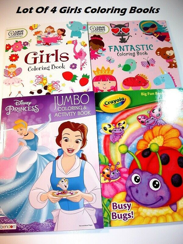 Lot Of 4 Fun Easy Coloring Books For Girls Ages 4 8 Coloring Books Book Girl Fun Easy