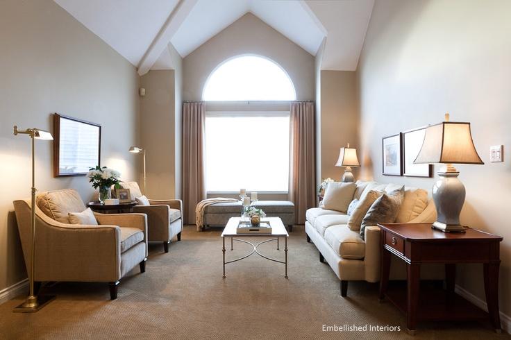 Modern Classic Living Room  www.embellishedinteriors.ca