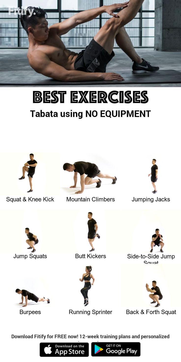 Tabata using NO Equipment [Video] Workout videos