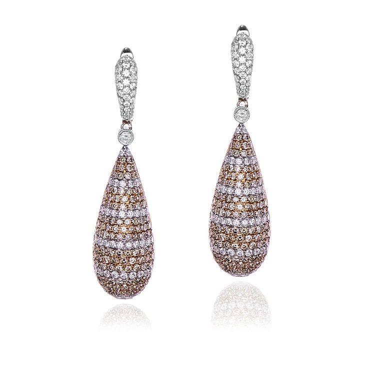 Natural Fancy Brown Diamond Earrings. $8,470.