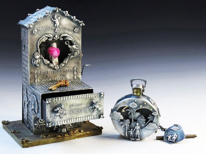 """Reliquary of Childhood Memories,"" by Kimberly Nogueira. made from precious metal clay (PMC)!"