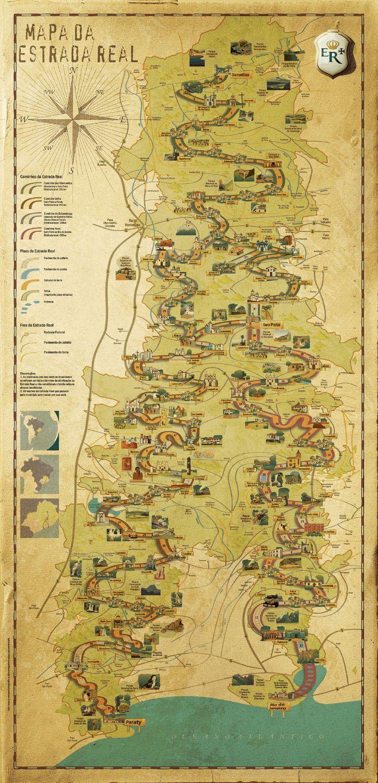 Mapa Estrada Real Brasil - Humanizado